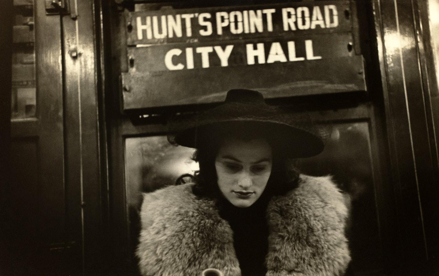 """Photographie : Walker Evans. """"Subway portrait"""""""