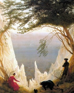 Caspar David Friedrich : Blanches falaises de Rügen