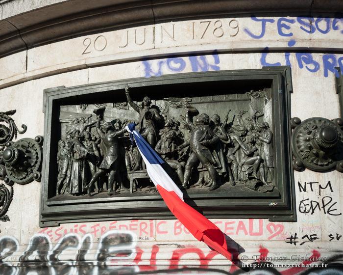 Place de la République. Attentats Paris. Novembre 2015.