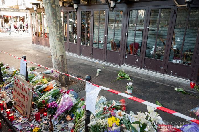 Rue de la Fontaine au Roi. Attentats Paris. Novembre 2015.