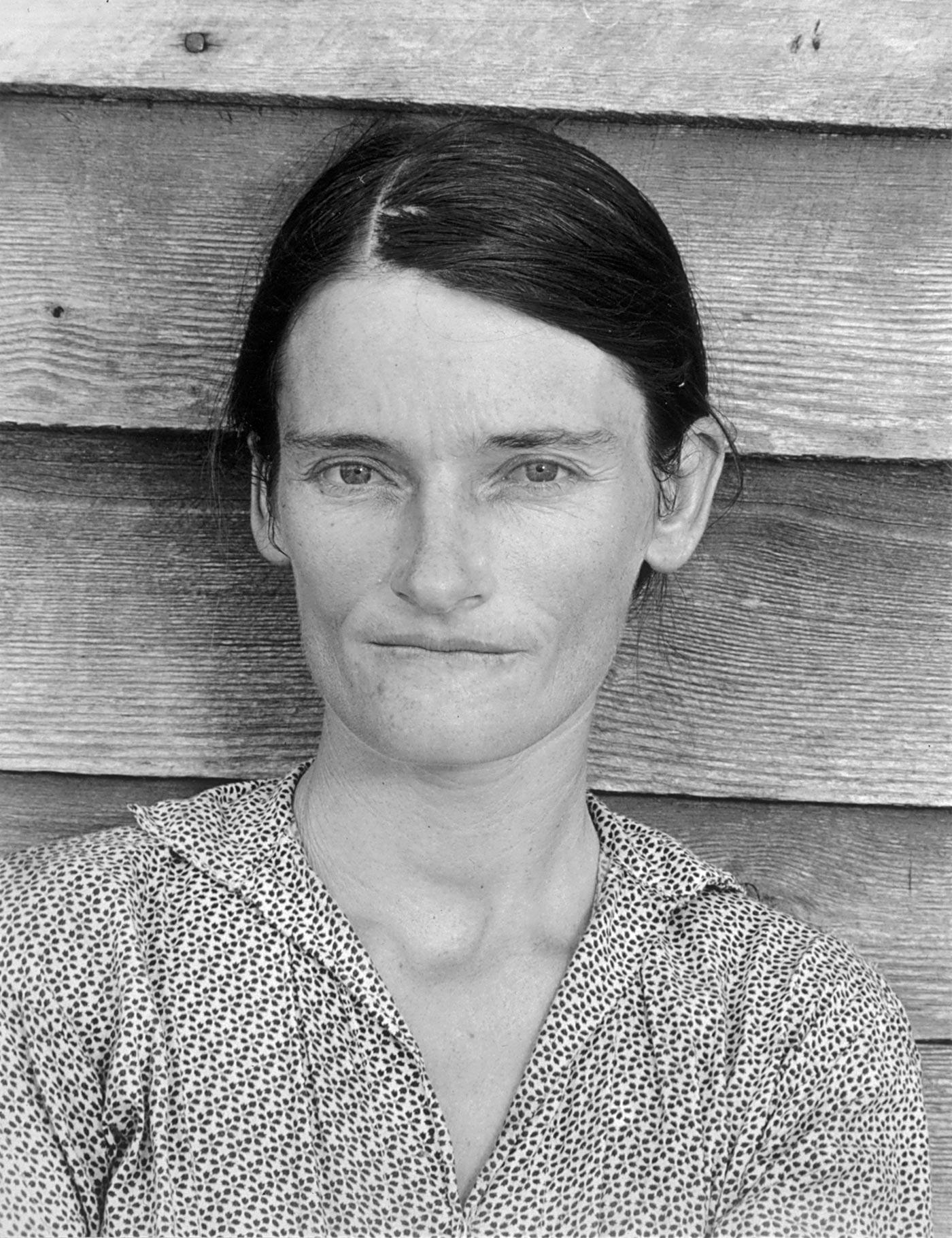Walker Evans : Portrait de Allie Mae Burroughs (1935/1936).