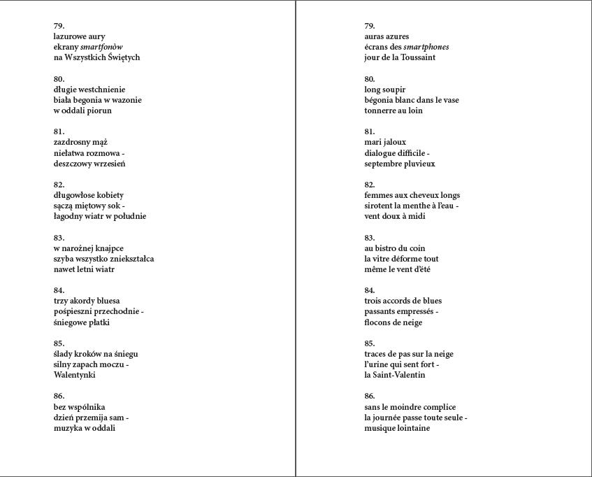 Haiku bicéphale, textes (2)