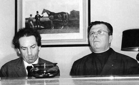 Jean Guillou et Père Martin
